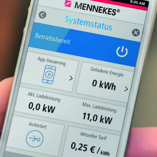 Mennekes charge app