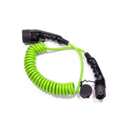 electric ways spiral ladekabel typ2